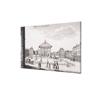 The Piazza in Covent Garden, 1647 (engraving) Canvas Print