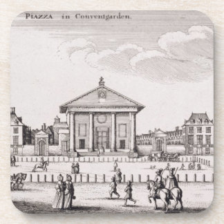 The Piazza in Covent Garden 1647 engraving Beverage Coasters