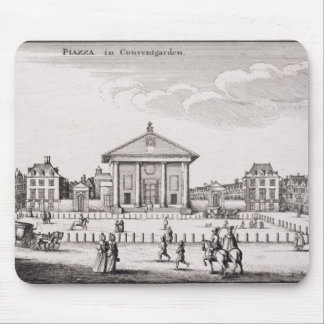 The Piazza in Covent Garden 1647 engraving Mouse Pad