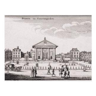 The Piazza in Covent Garden, 1647 (engraving) Post Cards