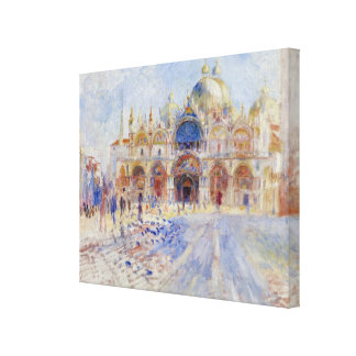 The Piazza San Marco, Venice, 1881 (oil on canvas) Canvas Print