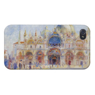 The Piazza San Marco, Venice, 1881 (oil on canvas) Covers For iPhone 4