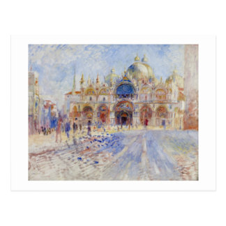 The Piazza San Marco, Venice, 1881 (oil on canvas) Postcard
