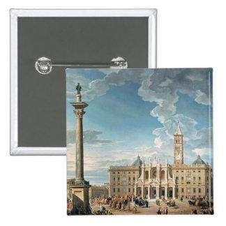 The Piazza Santa Maria Maggiore, 1752 15 Cm Square Badge