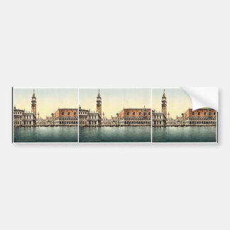 The Piazzetta, Venice, Italy classic Photochrom Bumper Sticker