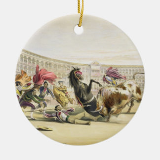 The Picador in Danger, 1865 (colour litho) Christmas Tree Ornaments
