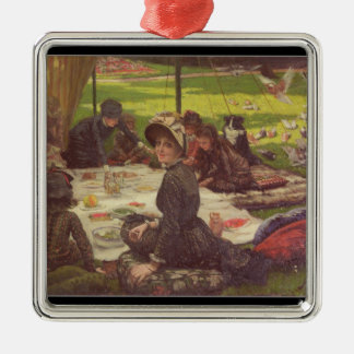 The Picnic , c.1881-2 Silver-Colored Square Decoration
