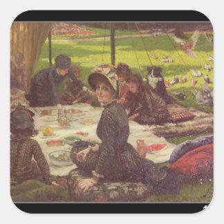 The Picnic , c.1881-2 Square Sticker