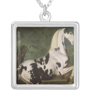 The Piebald Stallion at the Eisgruber Stud Silver Plated Necklace