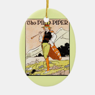 The Pied Piper Children's Nursery Ceramic Oval Decoration