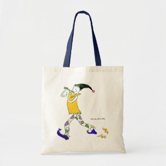 The Pied Piper of Hamelin sign Budget Tote Bag
