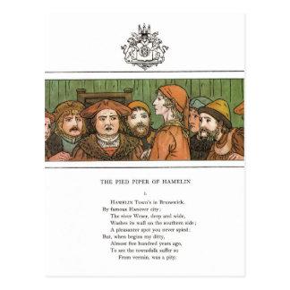 The Pied Piper Postcard