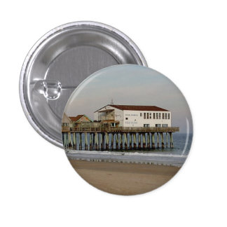 The Pier at Old Orchard Beach, Maine 3 Cm Round Badge