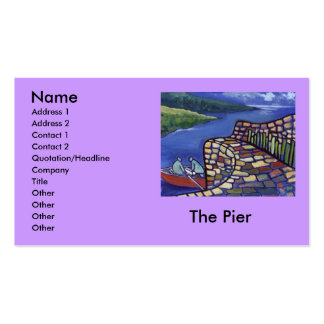 THE PIER, Name, Address 1, Address 2, Contact 1... Pack Of Standard Business Cards