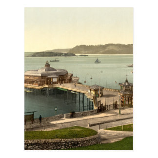 The Pier, with Drake's Island, Plymouth, England Postcard