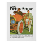The Pierce Arrow Automobile Vintage Ad Art Poster