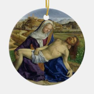 The Pieta, c.1505 (oil on panel) (post 1996 restor Round Ceramic Decoration
