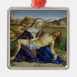 The Pieta, c.1505 (oil on panel) (post 1996 restor Silver-Colored Square Decoration