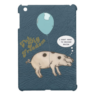 the pig freedom. cute iPad mini cover