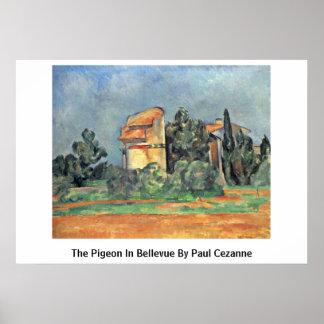 The Pigeon In Bellevue By Paul Cezanne Print