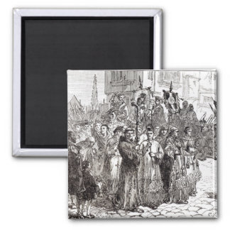 The Pilgrimage of Grace in 1536 Square Magnet