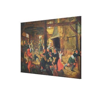 The Pillage of a Farm Canvas Print