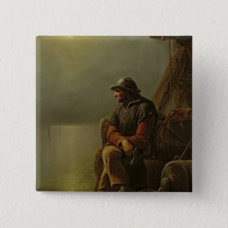 The Pilot Keeps Watch, 1851 15 Cm Square Badge