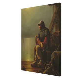 The Pilot Keeps Watch, 1851 Canvas Print
