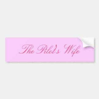 The Pilot's Wife Bumper Sticker