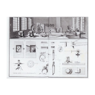 The Pin Factory, plate 2 from Volume IV Canvas Print