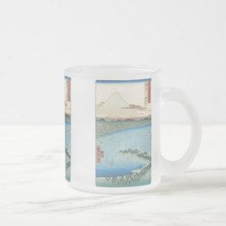 The Pine Beach, Hiroshige, 1856-56,  Mugs, Steins Frosted Glass Mug