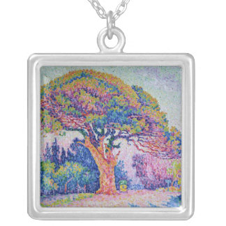 The Pine Tree at St. Tropez, 1909 Silver Plated Necklace