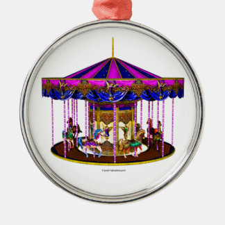 The Pink Carousel Christmas Ornament