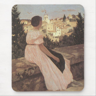 The Pink Dress Frederick Bazille Mousepad