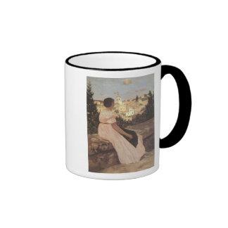 The Pink Dress, Frederick Bazille Coffee Mug