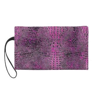 "The Pink 'Gator"" Bag Wristlet Clutch"