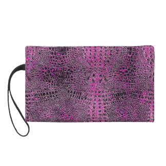 The Pink Gator Bag Wristlet Clutch