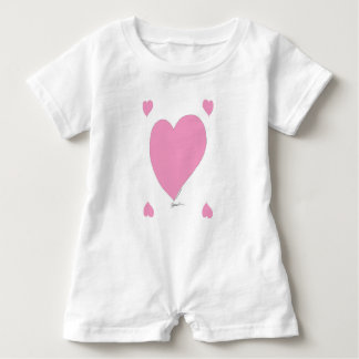 the pink hearts baby bodysuit
