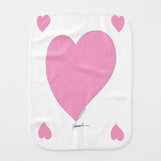 the pink hearts burp cloth