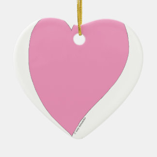 the pink hearts christmas ornament