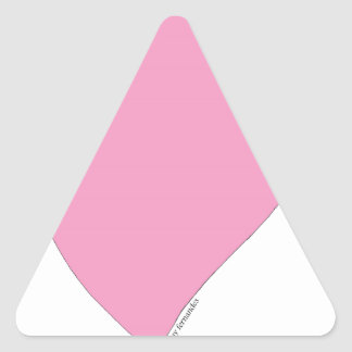 the pink hearts triangle sticker