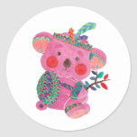 The Pink Koala Round Sticker