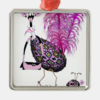The Pink Sapphire Fab Egg, tony fernandes Silver-Colored Square Decoration