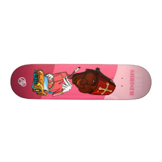 The Pink Shirner Custom Skate Board