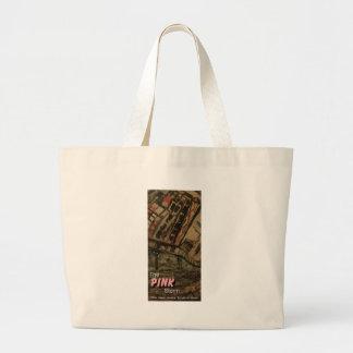 the pink storm jumbo tote bag