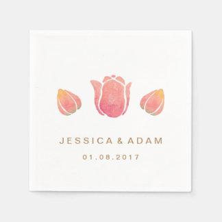 The Pink Tulip Wedding Paper Napkin