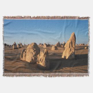 The Pinnacles desert Nambung National Park Throw Blanket