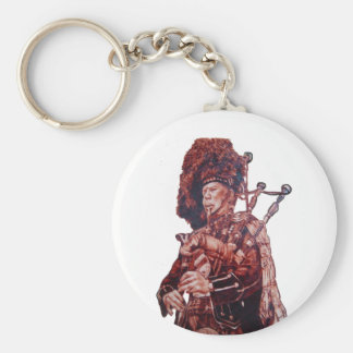THE PIPER SOUND BASIC ROUND BUTTON KEY RING