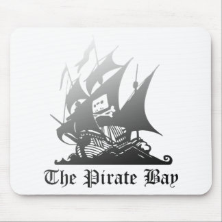 The Pirate Bay Grey To Black Mouse Mat