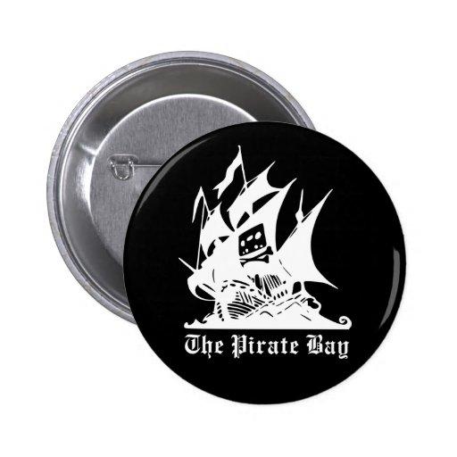 the pirate bay pirate ship logo 6 cm round badge